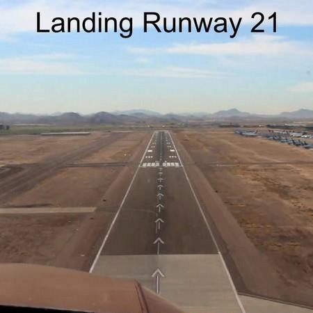 Landing at KGYR on runway 21